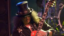 ROCK AND RIFT: Slash, who plays Dublin in November, says Axl Rose hates his guts