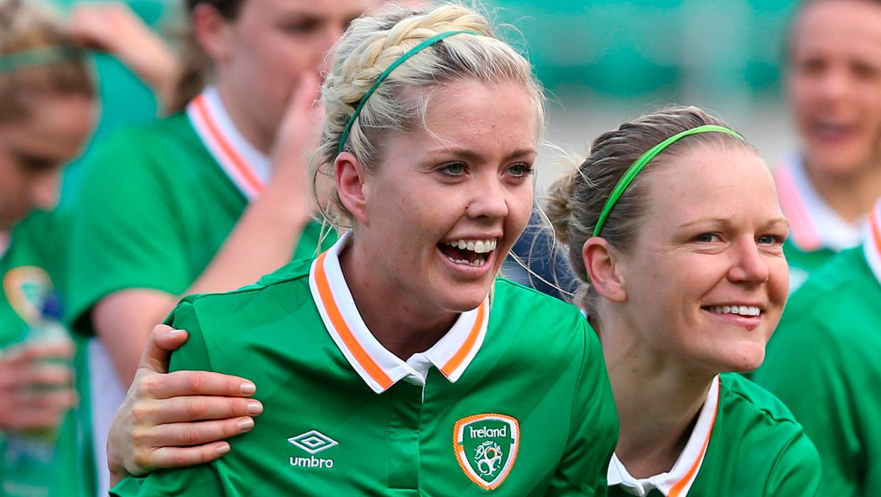 Diane Caldwell links up with Ireland team-mate Denise O'Sullivan at North Carolina Courage