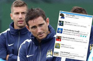 Frank Lampard was targeted by some Chelsea fans online