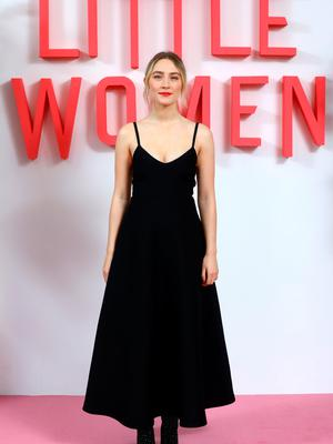 Saoirse Ronan attends the Little Women London evening photocall at the Soho Hotel on December 16, 2019 in London, England