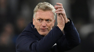 West Ham manager David Moyes acknowledges the supporters before victory in his first game in charge. Photo: Tony O'Brien/Reuters