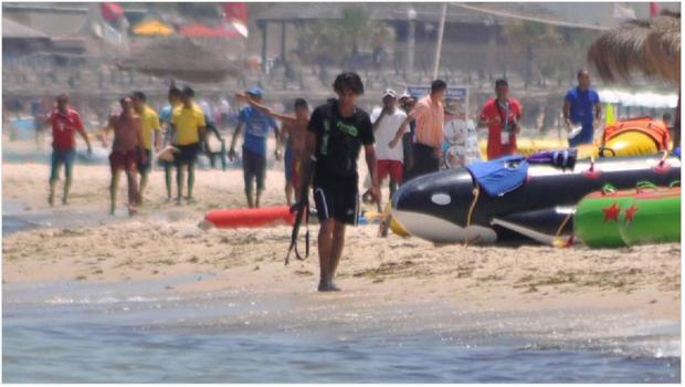 HORROR IN TUNISIA: Islamic terrorist Seifeddine Rezgui on a video shown on Sky News, casually strolling down the beach with his gun — just minutes before he opened fire on innocent tourists