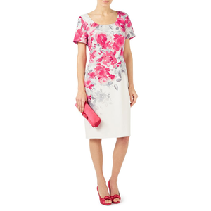 Jacques Vert - Multicoloured 'Rose Print' shift dress Now € 99.00, Limited sizes available at Debenhams