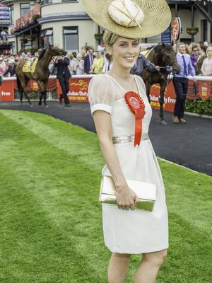 Heidi Higgins pictured at the 150th Dubai Duty Free Irish Derby at the Curragh Racecourse on Saturday 27th June. Photo Anthony Woods.