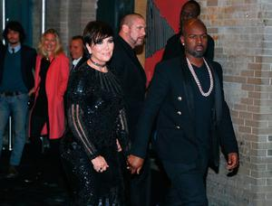 """Kris Jenner (L) and Corey Gamble attend the afterparty for """"Manus x Machina: Fashion In An Age Of Technology"""" Costume Institute Gala at The Gilded Lily on May 2, 2016 in New York City.  (Photo by Rob Kim/Getty Images)"""