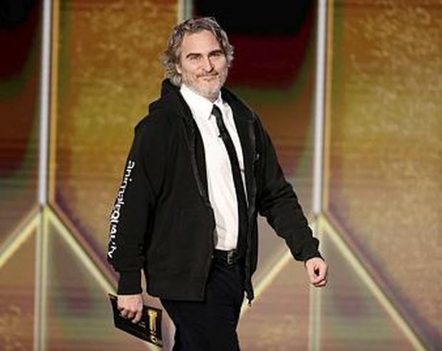 Joaquin Phoenix at the 78th Annual Golden Globe Awards in Beverly Hills  NBC Handout via REUTERS