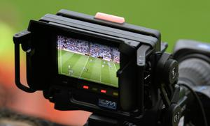 A Sky Sports camera records action from Croke Park. Picture credit: Dire Brennan / SPORTSFILE