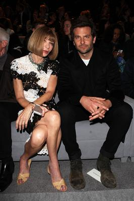 Anna Wintour and Bradley Cooper attend the TOM FORD show during London Fashion Week Spring Summer 2015