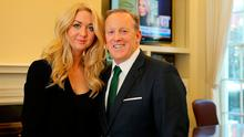 Niamh Horan with US Government Press Secretary Sean Spicer in his office in the White House.  Picture; Gerry Mooney