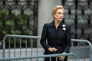 Designer Carolina Herrera arrives to attend the funeral of comedienne Joan Rivers at Temple Emanu-El in New York September 7, 2014. REUTERS/Lucas Jackson