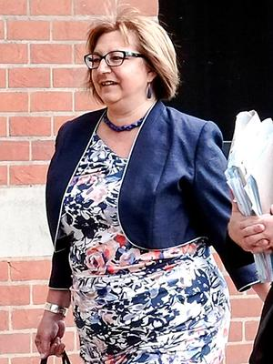 """BEST QUALITY AVAILABLE  Previously unissued picture dated 08/06/15 of Anne Lakey arriving at Teesside Crown Court, as a jury has heard that the headteacher accused of having sex with two underage boys in the late 1980s was a """"sexual predator who exploited the situation she was in"""". PRESS ASSOCIATION Photo. Issue date: Tuesday June 9, 2015. Anne Lakey, 55, from Stanley, County Durham, denies 13 counts of indecent assault said to have occurred over a three year period in the late 1980s. See PA story COURTS Head. Photo credit should read: Owen Humphreys/PA Wire"""