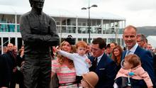 AP McCoy unveils a statue of himself during Champion Day of the 2017 Cheltenham Festival