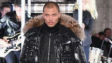 Model Jeremy Meeks the runway for the Philipp Plein collection during New York Fashion Week: The Shows at New York Public Library on February 13, 2017 in New York City.  (Photo by Albert Urso/Getty Images for New York Fashion Week: The Shows)
