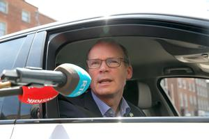 14/06/2020 Tanaiste Simon Coveney TD arrives at Government Buildings on Merrion Street, Dublin today.Photo:Gareth Chaney/Collins Photos