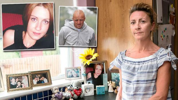 Lisa Finnegan and inset her sister Anna and Vesel Jahiri, who has been jailed for life
