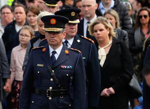 Garda Commissioner Drew Harris was among the congregation. Photo: PA