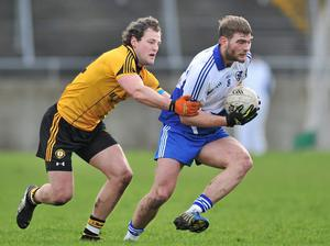 Aidan O'Shea, Connacht, in action against Michael Murphy, Ulster