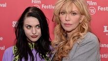 """Frances Bean Cobain and Courtney Love attend the """"Kurt Cobain: Montage Of Heck"""" Premiere during the 2015 Sundance Film Festival at The Marc Theatre on January 24, 2015 in Park City, Utah.  (Photo by Paul Marotta/Getty Images for Sundance)"""