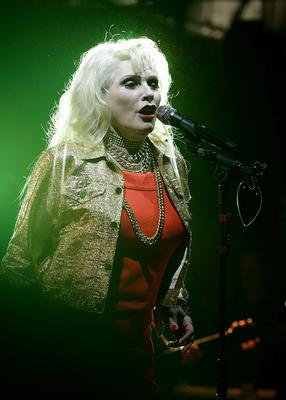 Debbie Harry of Blondie on stage during the 2014 NME Awards, at Brixton Academy, London. PRESS ASSOCIATION Photo. Picture date: Wednesday February 26, 2014. Photo credit should read: Yui Mok/PA Wire