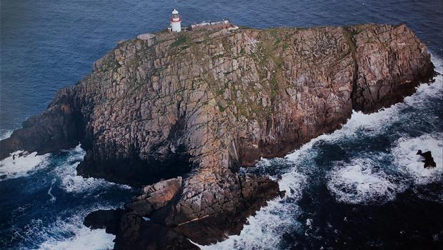 Collect photo of Blackrock Lighthouse where the search continues for Rescue 116. Photo: Steve Humphreys