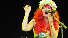 OXFORD, UNITED KINGDOM - JULY 06: Gabby Young of Gabby Young And Other Animals performs on stage at the Cornbury Music Festival at Great Tew Estate on July 6, 2014 in Oxford, England. (Photo by C Brandon/WireImage)