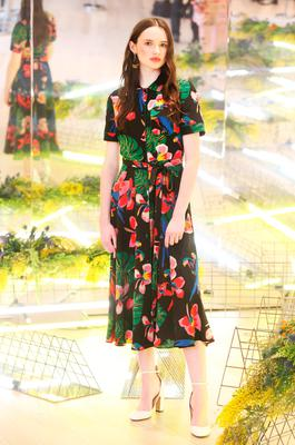 Maria Traynor wears Valentino dress €2,450 as she showcased the exciting new spring summer International Designer Collections at Brown Thomas. Picture: Leon Farrell / Photocall Ireland