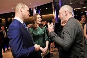 The Duke of Cambridge and HRH The Duchess of Cambridgetalking with Irish actor Liam Cunningham at theGuinness Storehouse JULIEN BEHAL PHOTOGRAPHY