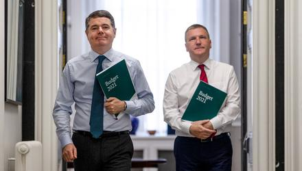 UNEQUAL TREATMENT: Minister for Finance Paschal Donohoe, left, and Minister for Public Expenditure and Reform Michael McGrath. Photo: Gerry Mooney