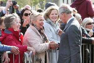 The prince greets locals at Mullaghmore
