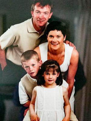Niamh Kennedy with her dad Liam, mum Catherine and brother Colm.