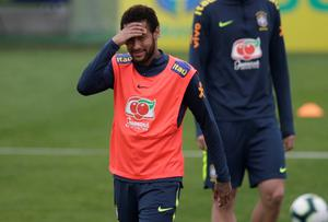 Neymar training with the Brazil squad. Photo: REUTERS/Ricardo Moraes