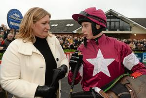 Sandra Hughes recently confirmed that she intends to continue training on a full-time basis from her late father Dessie's Curragh stable.