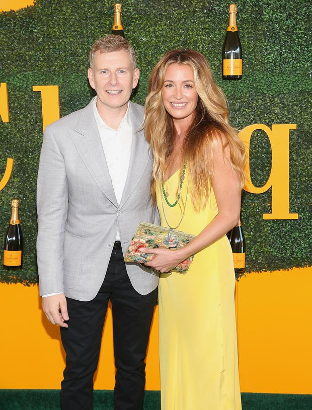 Comedian Patrick Kielty and actress Cat Deeley attend the 7th Annual Veuve Clicquot Polo Classic at Will Rogers State Historic Park on October 15, 2016 in Pacific Palisades, California. (Photo by Jesse Grant/Getty Images)