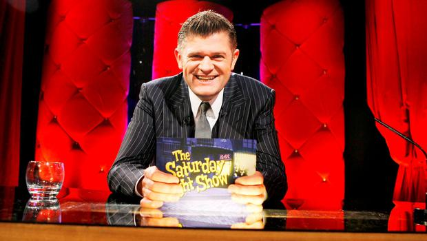 Brendan O'Connor on the set of 'The Saturday Night Show.