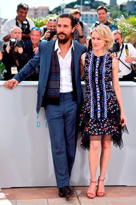 "US actor Matthew McConaughey (L) and British actress Naomi Watts pose during a photocall for the film ""The Sea of Trees"" at the 68th Cannes Film Festival"