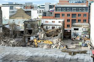 The demolition of the iconic Windmill Lane Studios where U2 recorded has left just the famous graffiti-covered walls remaining