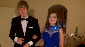 Adam Skinner and Sarah Jane Curtis going to the debs