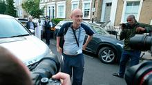 Dominic Cummings arriving back to his north London home, the day after he a gave press conference over allegations he breached coronavirus lockdown restrictions. Photo: Jonathan Brady/PA Wire