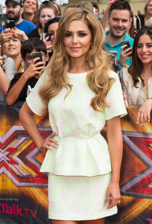 Cheryl Cole attends the X Factor Wembley Arena auditions at Wembley