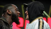 Deontay Wilder and Tyson Fury face off ahead of their rematch in Las Vegas. Photo: AFP