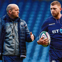 Gregor Townsend chats with Finn Russell before last year's Six Nations game against Ireland – however Russell won't be involved this time around. Photo: Ramsey Cardy/Sportsfile