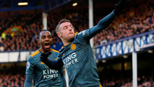 Leicester City's Jamie Vardy celebrates scoring his side's winning goal. Photo: Phil Noble/Reuters