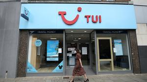 Eight of TUI's 10 stores in Ireland are listed as closed temporarily due to Covid-19 risks. Photo: PA