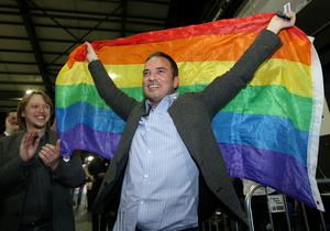 John Lyons TD  pictured  the Marriage Equality Referendum and the  Presidential Age Referendum  count in the RDS Simmonscourt . 23/5/15 Pic Frank Mc Grath Irish Independent