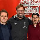 Jurgen Klopp with Sporting Director Michael Edwards (left) and Mike Gordon FSG President and Liverpool F.C owner (Photo by John Powell/Liverpool FC via Getty Images)