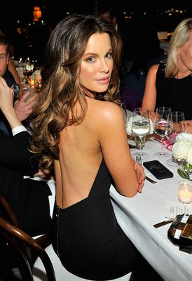 Actress Kate Beckinsale attends David And Victoria Beckham, Along With Barneys New York, Host A Dinner To Celebrate The Victoria Beckham Collection at Fred's at Barneys