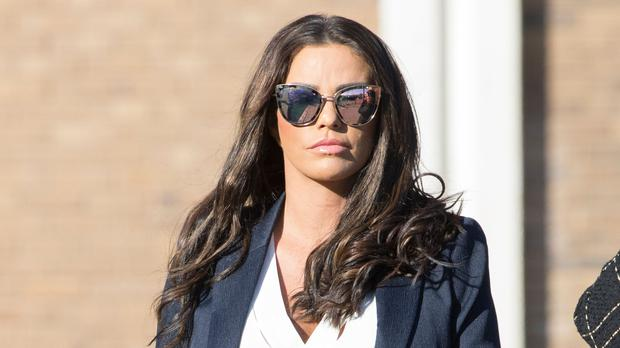Katie Price and Carl Woods revealed they were engaged last month (Rick Findler/PA)
