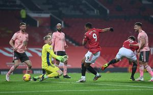 Ole Gunnar Solskjaer felt the referee made a mistake when he disallowed Anthony Martial's goal (Laurence Griffiths/PA)
