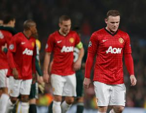Wayne Rooney walks off the pitch after the defeat to Real Madrid. Pic: Reuters