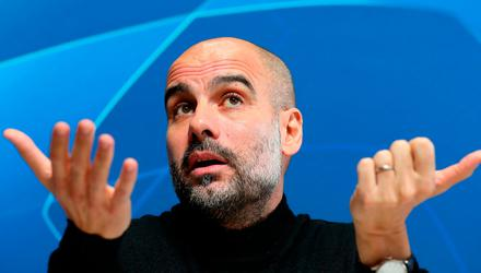 'Three defeats in the last four league games has left Pep Guardiola in the unusual position of chasing in a league title race' Photo: Martin Rickett/PA Wire